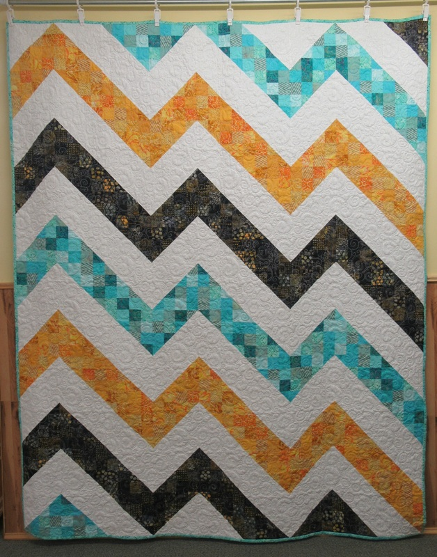 Quilts for sale studio53fabricandgifts white lightning quilt professionally made and machine quilted by studio 53 all made with 2 inch batik fabrics easy sew pattern called white lightning gumiabroncs Images